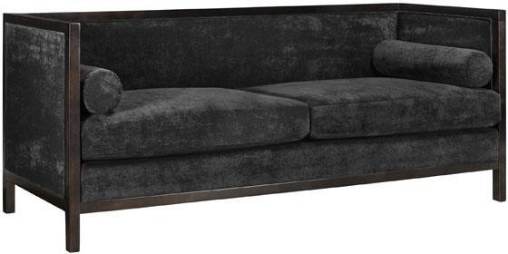 Lenox sofa charcoal solid velvet modern sofas by Home decorators collection sofa