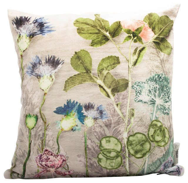 Mother's Silver Bouquet Cushion Cover
