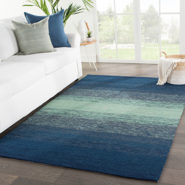 Jaipur Living Blaze Indoor Outdoor Ombre Blue Green Area Rug Contemporary Outdoor Rugs By Jaipur Living Houzz