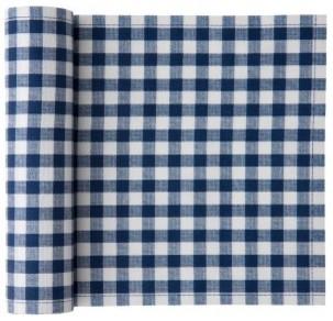 Cotton Vichy Napkin, Blue Vichy