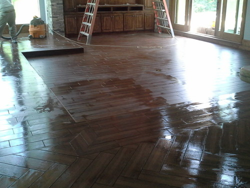 It S Possible To Lay A Nice Pattern With Wood Look Tile You Don T Have To Settle But You Do Have To Watch Them It S Thousands In The Balance For Being