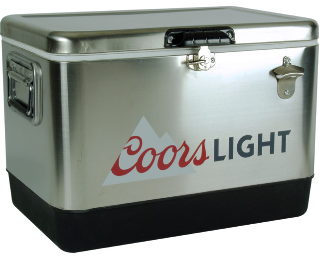 Coors Light Stainless Steel Ice Chest Contemporary