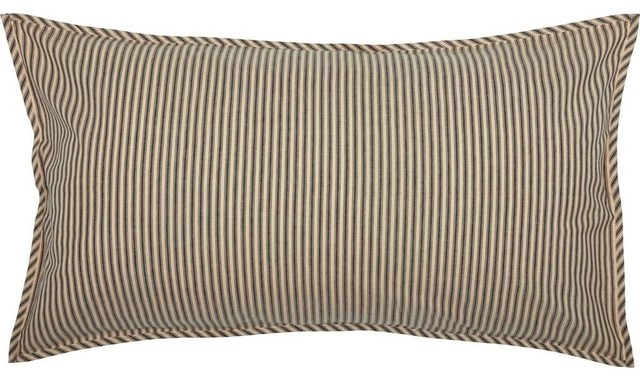 Collector Stripe Grey Duvet Cover King Taupe VHC Brands Farmhouse Bedding
