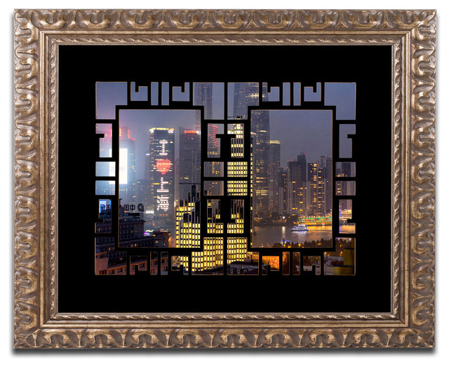 "Philippe Hugonnard 'Love Shanghai' Ornate Framed Art, 20""x16"""