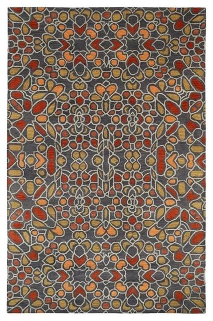 Kaleen Rosaic Rug, Charcoal, 9&x27;6x13&x27;.