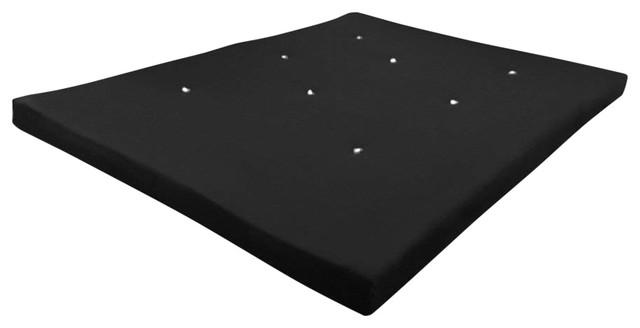 Double Futon Mattress, Black Cotton Twill Cover