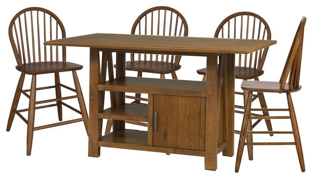 Liberty Furniture Farmhouse Center Island Dining Table Set Midcentury Sets By Quality S