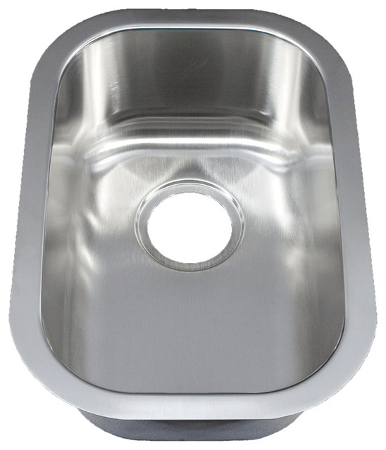 12 ellis stainless steel undermount kitchen sink small single bowl rh houzz com small sinks for kitchens stainless small ceramic sinks for kitchen