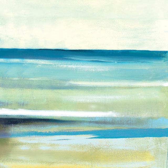 "Beach Canvas Wall Art cool ocean abstract"" canvas wall art, 30""x30"" - beach style"