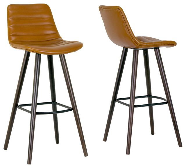Alden Caramel Brown Bar Stool With Beech Legs Set of 2  : bar stools and counter stools from www.houzz.com size 640 x 576 jpeg 62kB