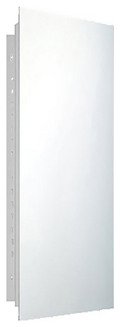 """Deluxe Series Medicine Cabinet, 16""""x36"""", Polished Edge, Recessed"""
