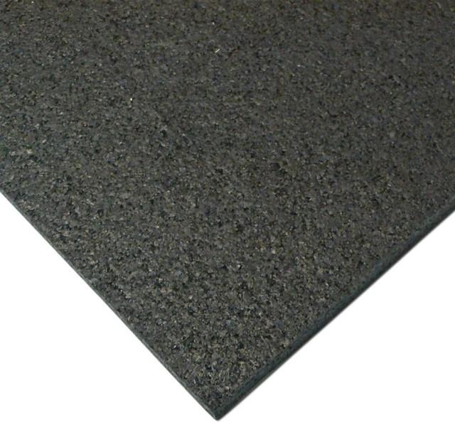 """rubber cal """"treadmill mat"""" heavy-duty mat, black, 3/16-inch x 4ft"""