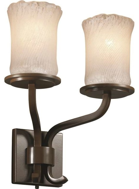 Justice Design GLA-8782-16-WHTW-DBRZ Veneto Luce Sconce, Dark Bronze - Transitional - Wall ...