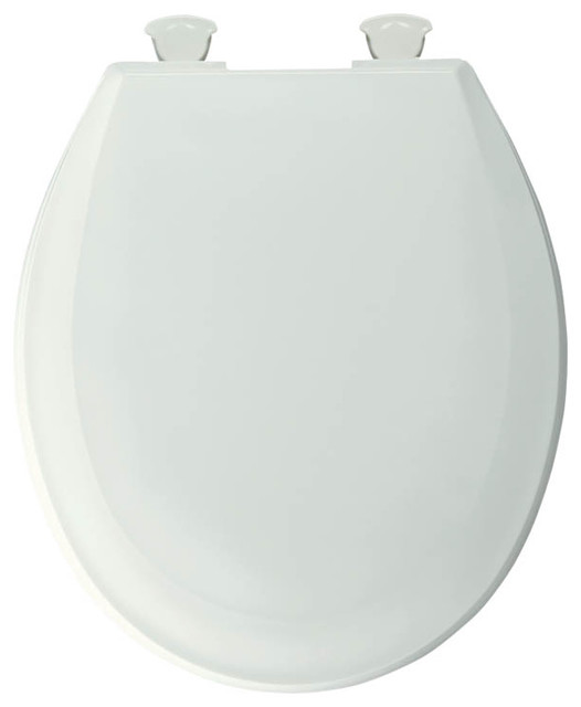 Bemis 100EC 000 Lift Off Plastic Round Toilet Seat White Transitional To