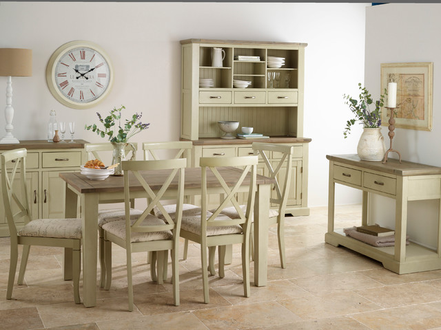Isabella - Brushed Acacia Painted Dining Room.