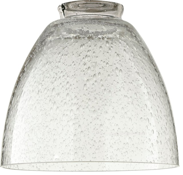 Quorum Glass Shade Clear Seeded Glass 2 25