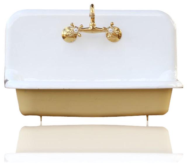 High Back Farmhouse Sink : re 30
