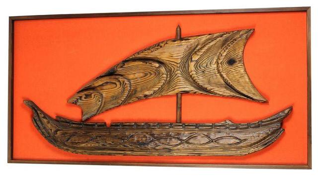 Mid-Century Modern Tiki Witco Ship Wall Decor - $995 Est. Retail ...