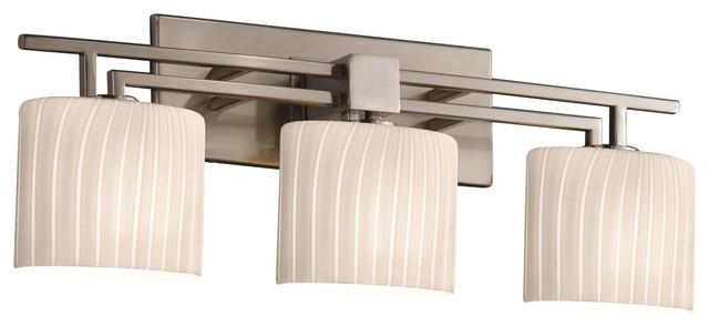 "Justice Design Group FSN-8703-30-RBON Fusion 26.5"" Aero 3 Light Bathroom Vanity"