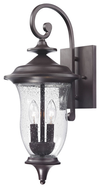 Trinity 2-Light Outdoor Wall Lights, Oil Rubbed Bronze