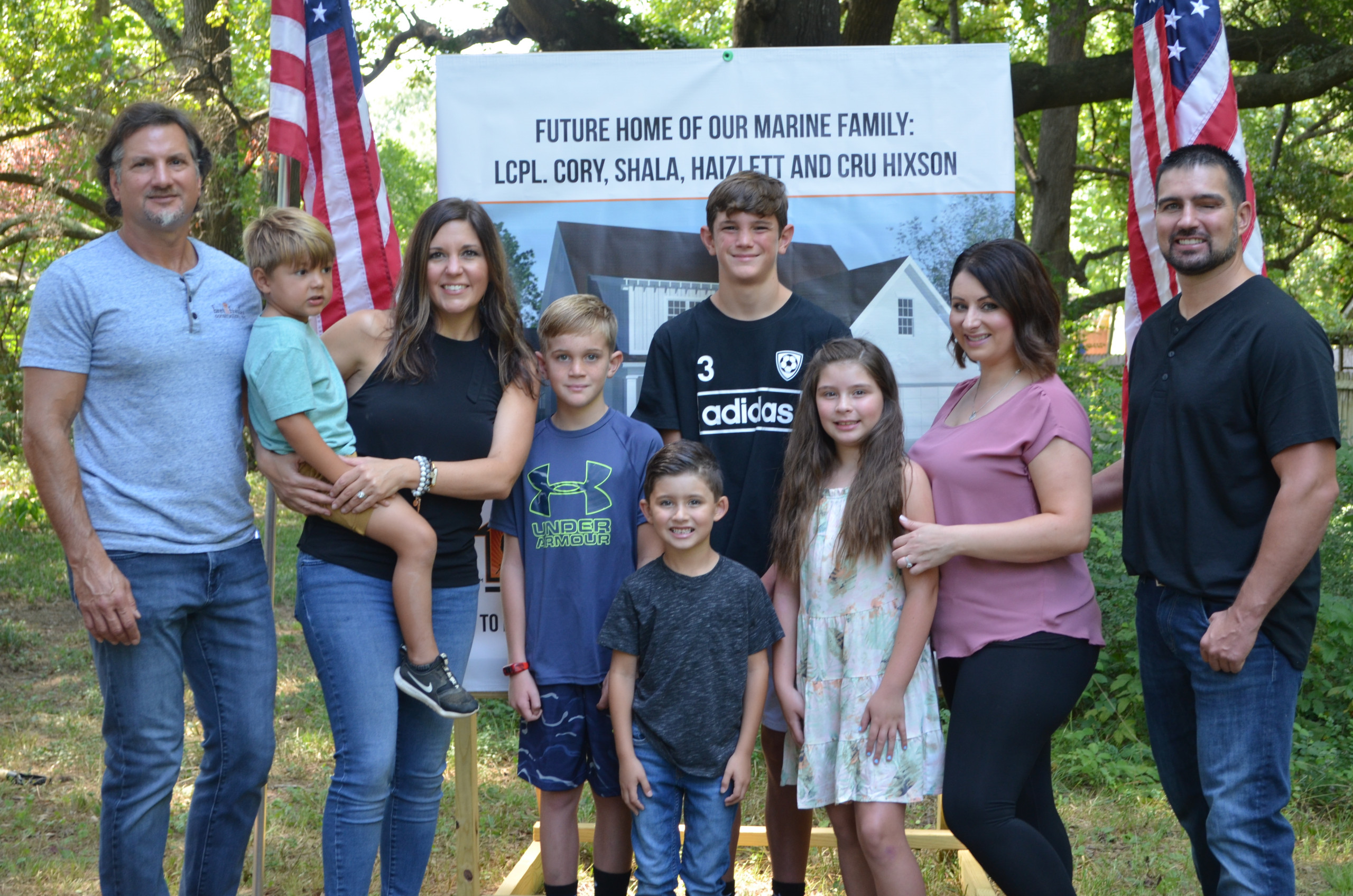 The Franks + Hixson families at the groundbreaking of the OFH house.