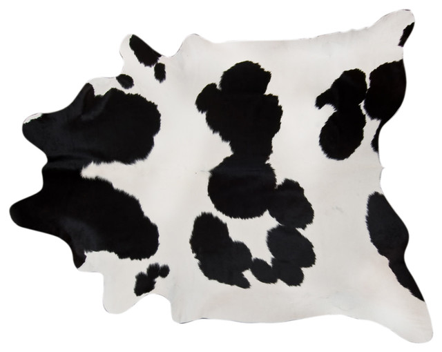 Pergamino Black And White Cowhide Rug, Extra Extra Large.