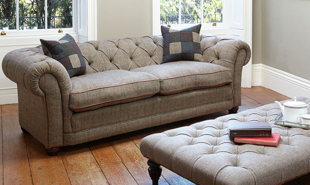 Awesome Harris Tweed Orkney Chesterfield Sofa Traditional Sofas