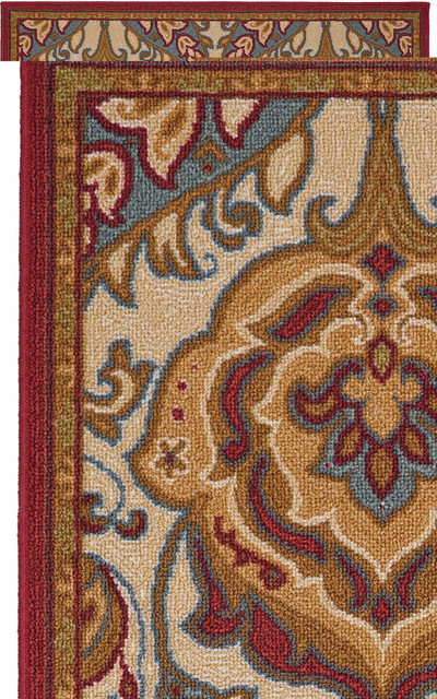 Tennyson Red Rug Eclectic Area Rugs By Mohawk Home