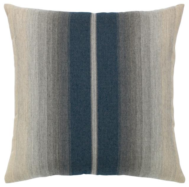 Elaine Smith Ombre Indigo Pillow Contemporary Outdoor Cushions And Pillows