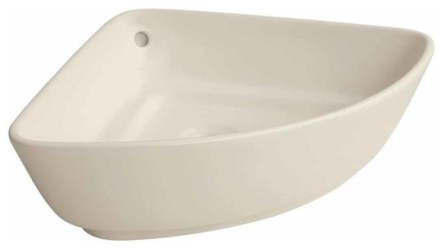 Bathroom Vessel Sink Triangle Bone China.