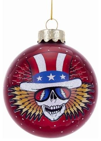 Grateful Dead Christmas Ornament.Kurt Adler Grateful Dead Glass Ball Ornament 80 Mm