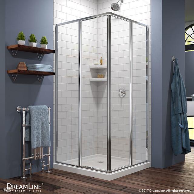 DreamLine Cornerview 34 1/2 in. by 34 1/2 in. Framed Sliding Shower Enclosure
