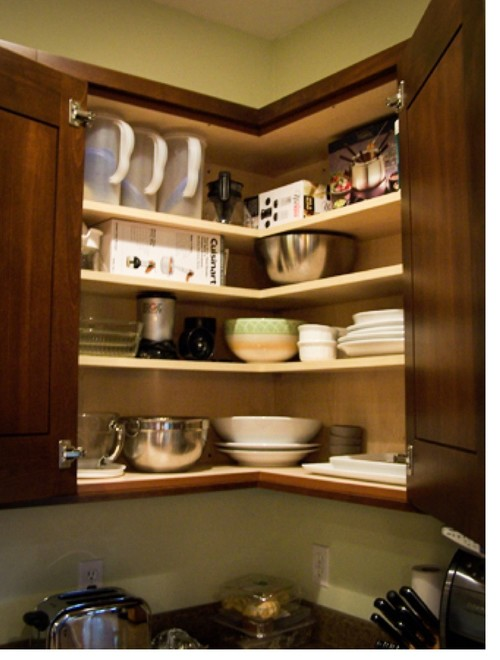 About The Easy Reach Upper Corner Cabinet.