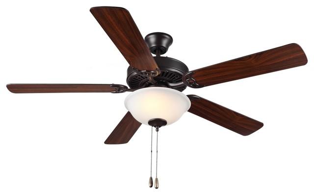 Two Light Bronze Ceiling Fan.
