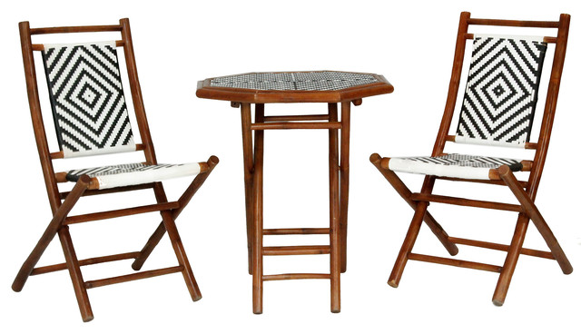 Heather Ann Creations - Hana 3-Piece Indoor/Outdoor Bistro Set ...