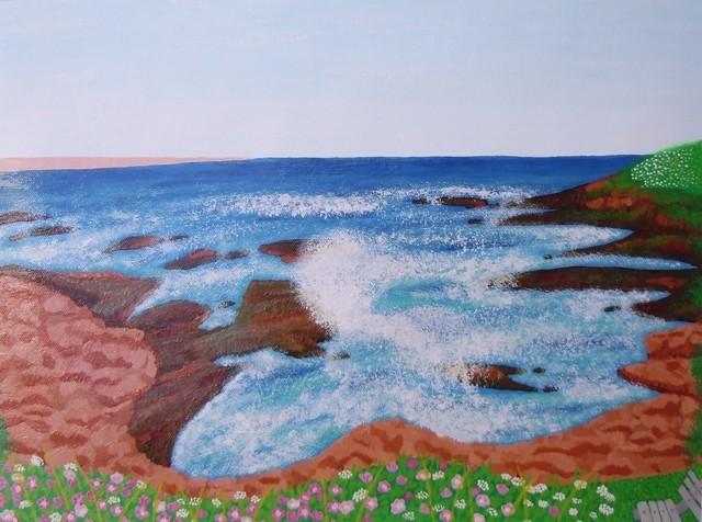 Marginal Way In Ogunquit Maine By Alina Deutsch Beach