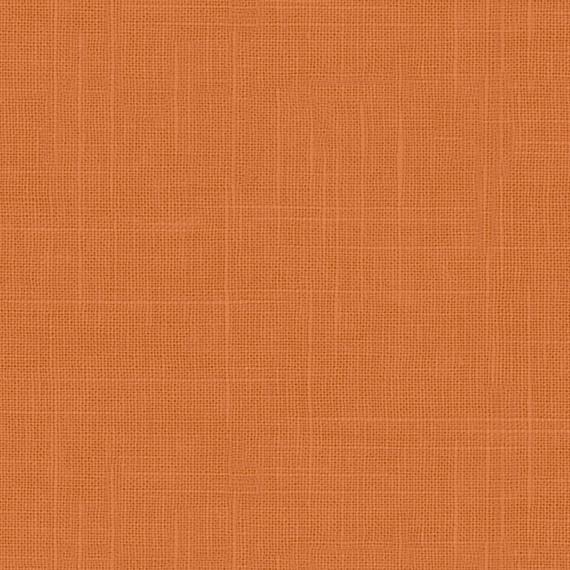Burnt Orange Lightweight Linen Blend Fabric