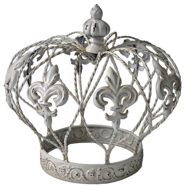 Metal crown table decor contemporary decorative for Modern home decor objects