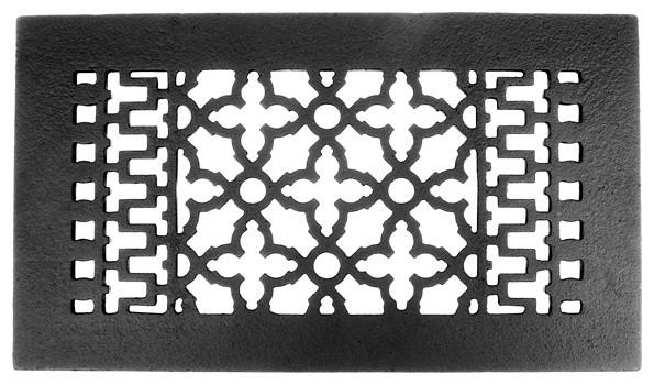 "Decorative Cast Iron Register, Without Holes, 12""x6""."