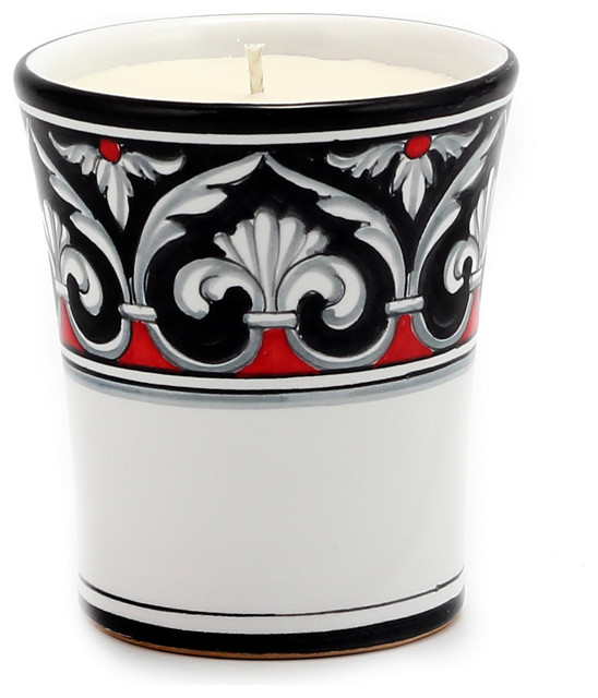 DERUTA CANDLES Deluxe Cup Candle ~ Deruta Rinascimental Design