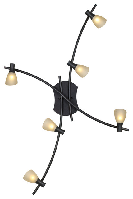 Track Light With Antique Brown Finish And White Glass