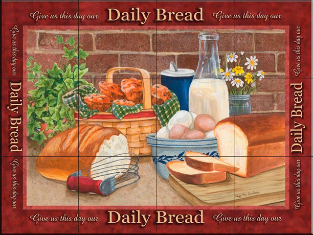 Tile Mural, Daily Bread by Mary Lou Troutman