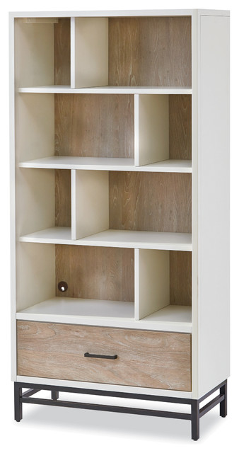 Ordinaire Juneau Bookcase, Parchment And Gray