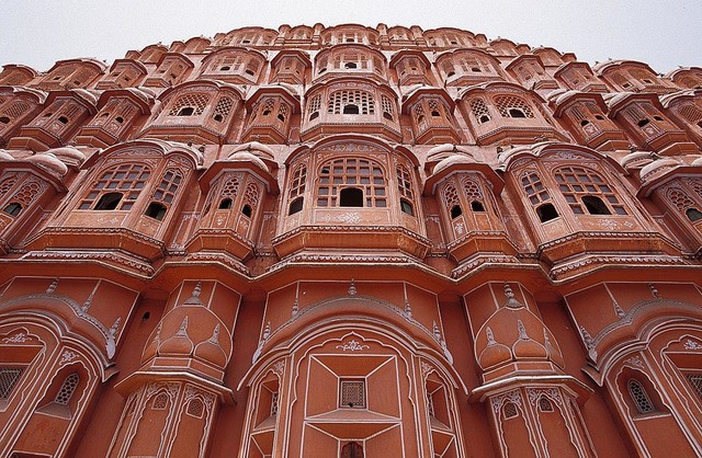 india sandstone palace of the winds wallpaper wall mural, selfindia sandstone palace of the winds wallpaper wall mural, self adhesive contemporary wall decals by magic murals, llc