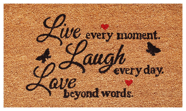 Live Every Moment Doormat.