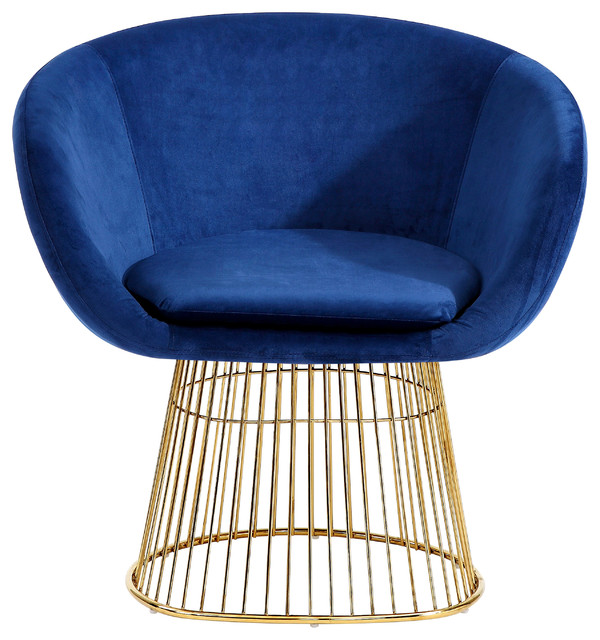 Dylan Velvet Accent Chair Contemporary Armchairs And