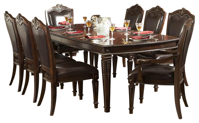 Superior Homelegance Palace 11 Piece Dining Room Set With Buffet Traditional Dining  Sets