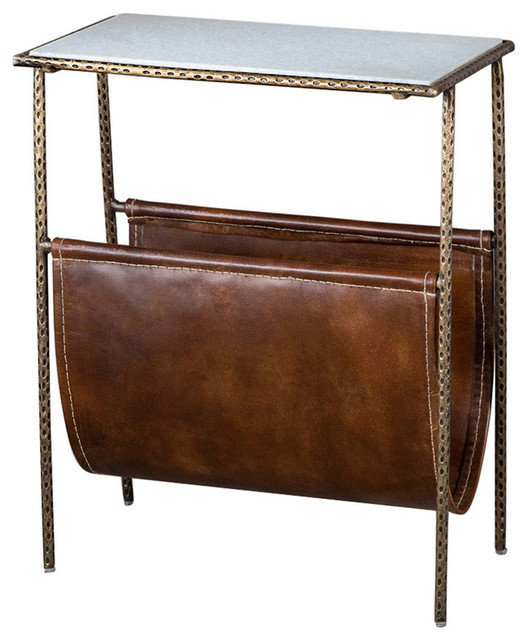Strauss Industrial Loft Magazine Holder Side End Table Delectable Contemporary Magazine Holder