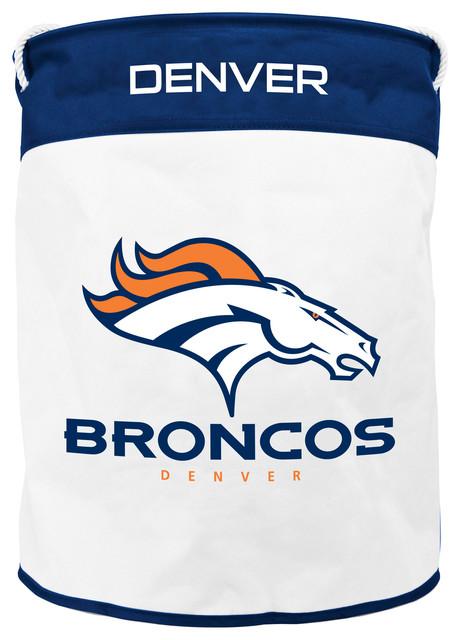 Denver Broncos Canvas Laundry Bag Contemporary Hampers