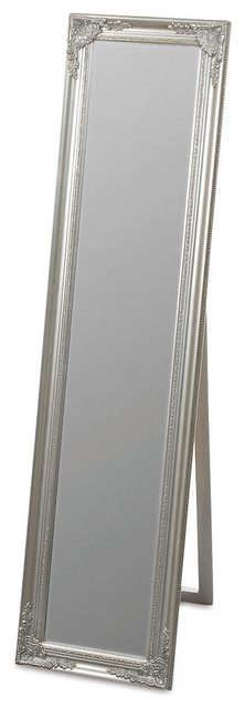The Rustic French Country Style Floor Mirror, Silver.